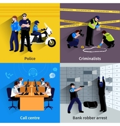 Policeman People Square Concept vector image
