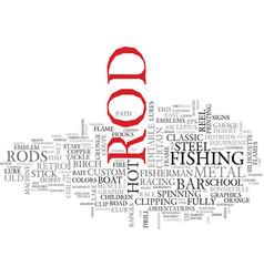 rod word cloud concept vector image