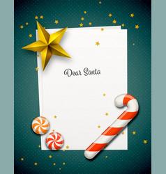 santa claus letter vector image