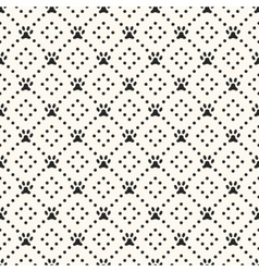Seamless animal pattern paw footprint and dot vector