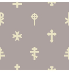 Seamless background with different crosses vector
