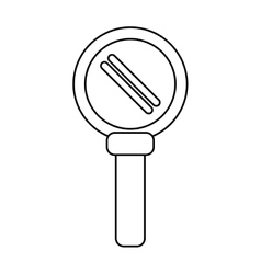 Search loupe magnifier tehcnology outline vector