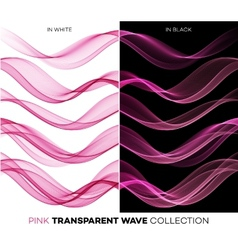 Set of color transparent smoky wave vector image