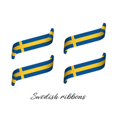 Set of four modern colored swedish ribbons vector