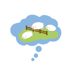 sheep sleeping cartoon vector image