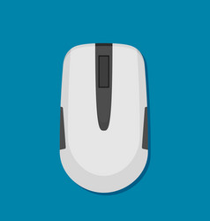 simple computer or laptop mouse in flat style vector image