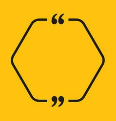 speech bubble hexagon empty quote bracket vector image