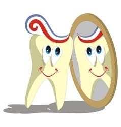 Tooth cartoon set 004 vector image