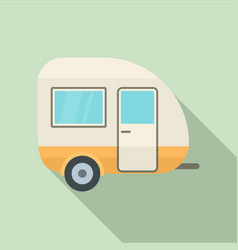 travel trailer icon flat style vector image