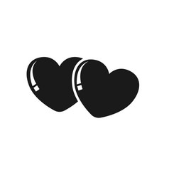 twins heart icon black color vector image