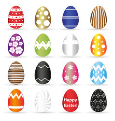 various easter eggs color design with decoration vector image