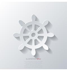 Wheel web icon vector image