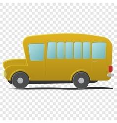 Yellow school bus cartoon vector