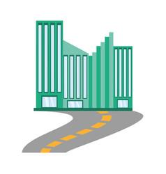 building facade road icon vector image