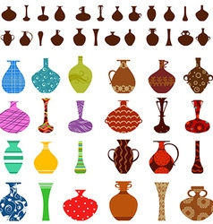 collection of vases for your design vector image vector image