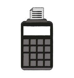 printer calculator device vector image