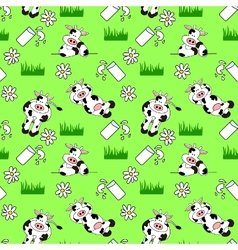 seamless cow background vector image