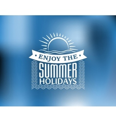 Summer Holidays poster or banner vector image vector image