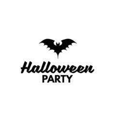 The Silhouette Of A Bat Sign Halloween Party Badge vector image vector image