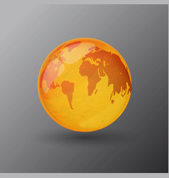 yellow sunny world map vector image