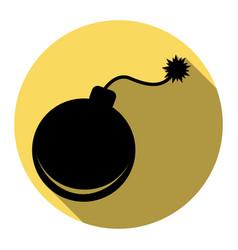 bomb sign flat black icon vector image