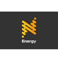 Energy logo design Flash logo Line logo concept vector image