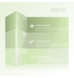 Modern template in the form of a box vector image vector image