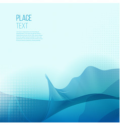 abstract smooth color wave background vector image vector image
