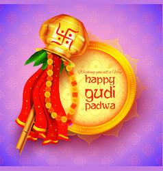 gudi padwa celebration of india vector image