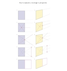 How to duplicate a rectangle in perspective vector image vector image