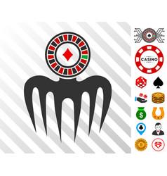 Roulette spectre monster icon with bonus vector