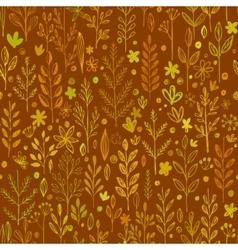 Seamless pattern doodling fall grass design vector image