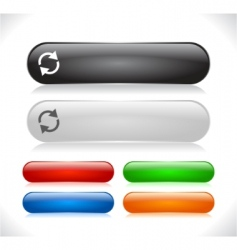 website menu buttons vector image vector image