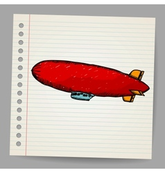 Dirigible Doodle style vector image