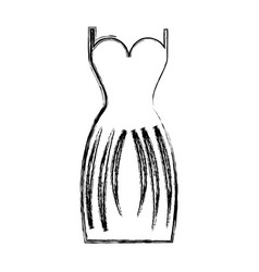 elegant female dress icon vector image