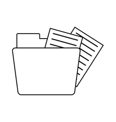 folder file document information outline vector image vector image