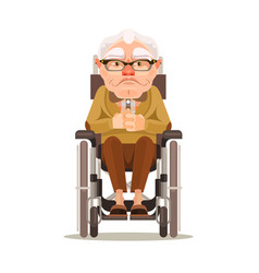 happy smiling old man character vector image vector image