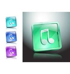 multimedia musical note icon button vector image vector image