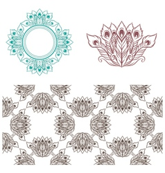 Peacock Pattern vector image vector image
