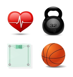 Sport And Fitness Icon Set vector image