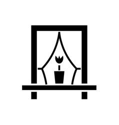 window icon black sign on vector image
