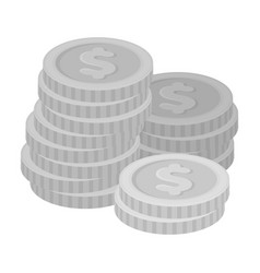 a pile of coins for reckoning in a casino vector image
