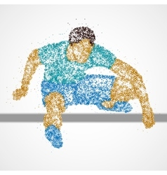 Abstract athlete jump vector image