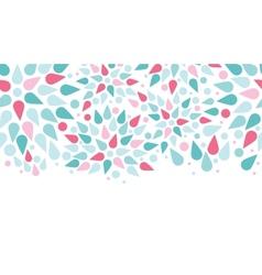 abstract colorful drops horizontal seamless vector image