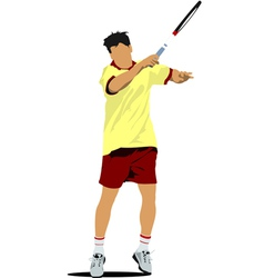 Al 0311 tennis player 01 vector