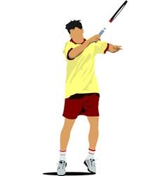 Al 0311 tennis player 01 vector