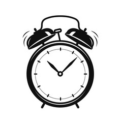 alarm clock icon time deadline vector image