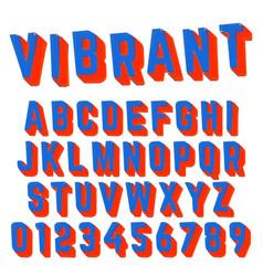 Alphabet font vibrant design vector