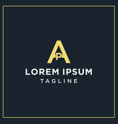 Ap monogram logo vector
