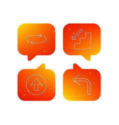 arrows icons upload repeat linear signs vector image